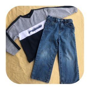 5/5T Children's Place Sweatshirt & Jeans